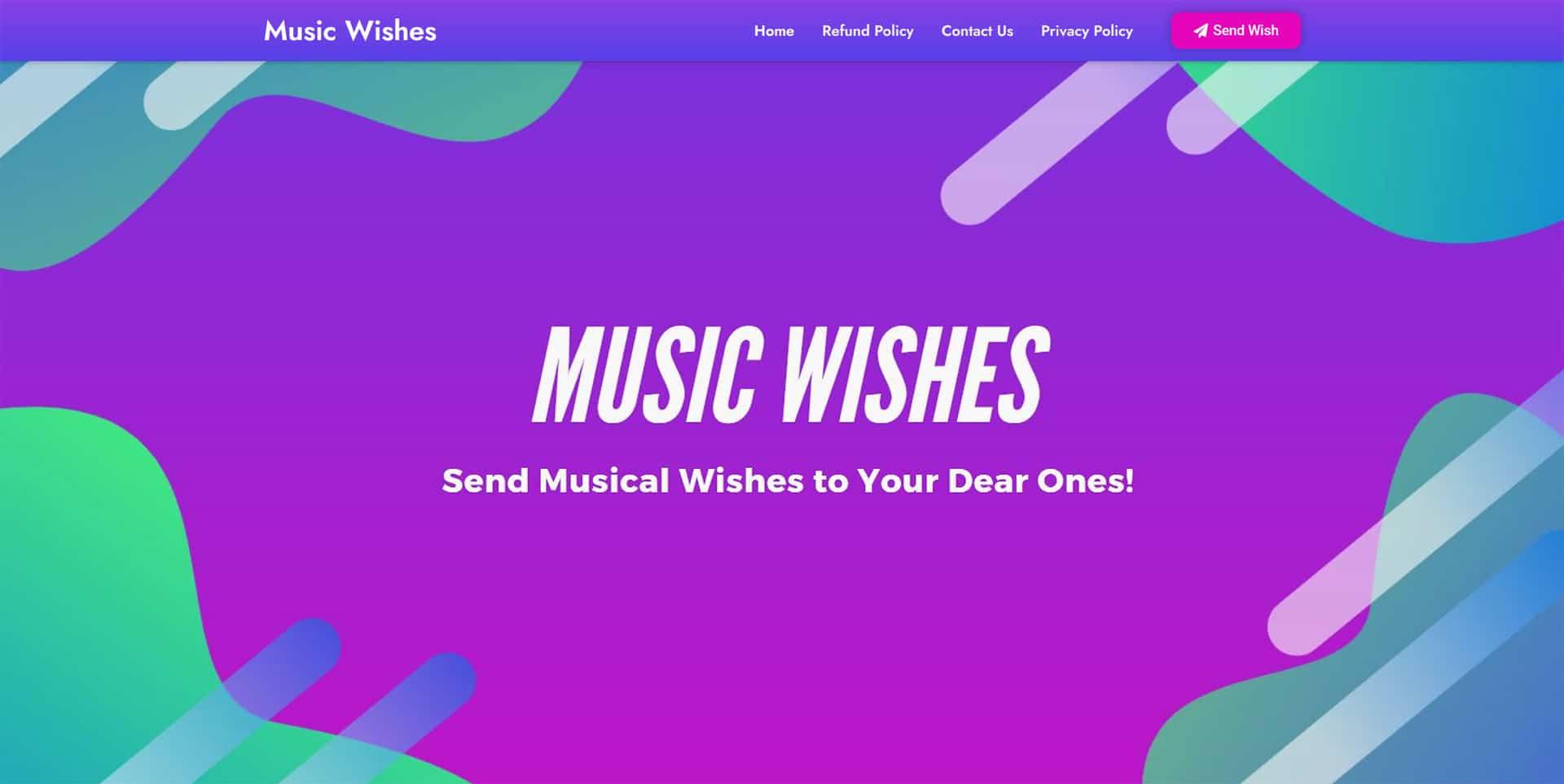 Music Wishes Website